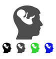 embryo mind head icon vector image vector image