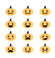 Emoji pumpkin icon set vector image vector image