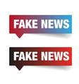 Fake news sign label tag