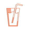 fresh juice drink with straw vector image vector image