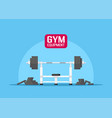 gym equipment set vector image vector image