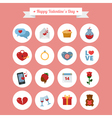 Happy Valentines Day Icons Set vector image vector image