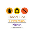 head lice prevention month vector image vector image