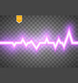 heart pulse graphic isolated on transparent vector image vector image
