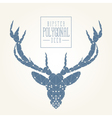 Hipster deer head vector image