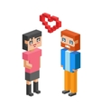 Isometric family couple love wedding vector image