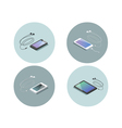 isometric set of electronic devices smartphone vector image vector image