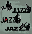 Jazz Music headline vector image