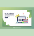 landing page template online learning modern vector image vector image