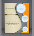 layout business brochure layout flyer template or vector image vector image