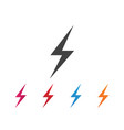 lightning icon logo and symbols vector image