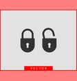 lock icon unlock symbol flat design vector image vector image