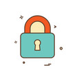lock safe security icon design vector image