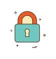 lock safe security icon design vector image vector image