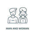 man and woman line icon linear concept vector image