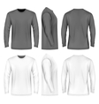 Men long sleeve t-shirt vector image vector image