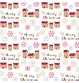 merry christmas print vector image vector image