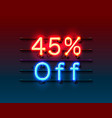 neon frame 45 off text banner night sign board
