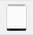 notebook with place for your logotype vector image vector image