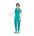 nurse in professional clothes character with vector image vector image