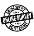 online survey round grunge black stamp vector image vector image