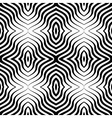 Op Art Black White Seamless Geometric Pattern vector image vector image