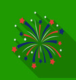 patriotic fireworks icon in flat style isolated on vector image vector image