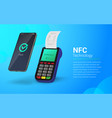 payment processing using nfc technology touchless vector image