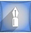 Pen icon symbol Flat modern web design with long vector image