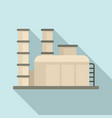 petroleum factory icon flat style vector image