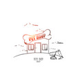 pets shop concept hand drawn isolated vector image