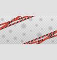 red warning coronavirus stripes quarantine zone vector image vector image