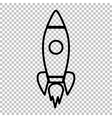 Rocket sign Line icon vector image vector image