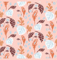 seamless pattern with florals and botanics plant vector image vector image
