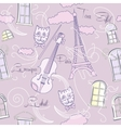 Seamless pattern with music and city vector image vector image