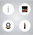 set of greasepaint realistic symbols with lipstick vector image vector image