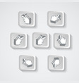 set of pointers in the form pixels vector image