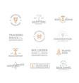 set retro vintage construction logo or insignia vector image vector image