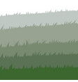 set spring green grass horizontal borders vector image