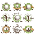 set vintage golf emblems vector image vector image