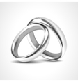 Silver Rings Isolated on White Background vector image vector image