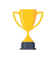 simple trophy vector image vector image