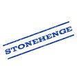 Stonehenge Watermark Stamp vector image