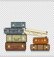 suitcases on transparent background vector image