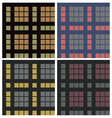 tartan fabric seamless pattern set vector image