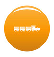 toy train icon orange vector image