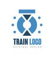 train logo original design railway railroad vector image vector image