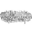 window cleaners text word cloud concept vector image vector image