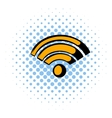 Wireless network icon comics style vector image vector image