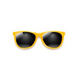 yellow sunglasses with white background vector image